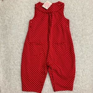 Janie and Jack By the Seahorse Red Romper NWT